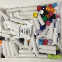 Lip Balm Tubes Plastic Beauty Containers 14 Color Assortment 70 Prepack - 0.15 oz.