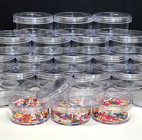 Cosmetic Jars Plastic Beauty Containers - 50 Gram (Clear Cap)