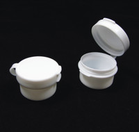 Cosmetic Jars Beauty Containers with Hinged Lid  - 3 Ml (Natural / White / Black)