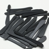 Cosmetic Spatulas Black Rounded Tip Makeup Mixing Tool (25)