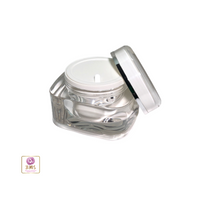Acrylic Beauty Containers Square Cosmetic Cream  Jars w/ Sealing Disc - 50ml
