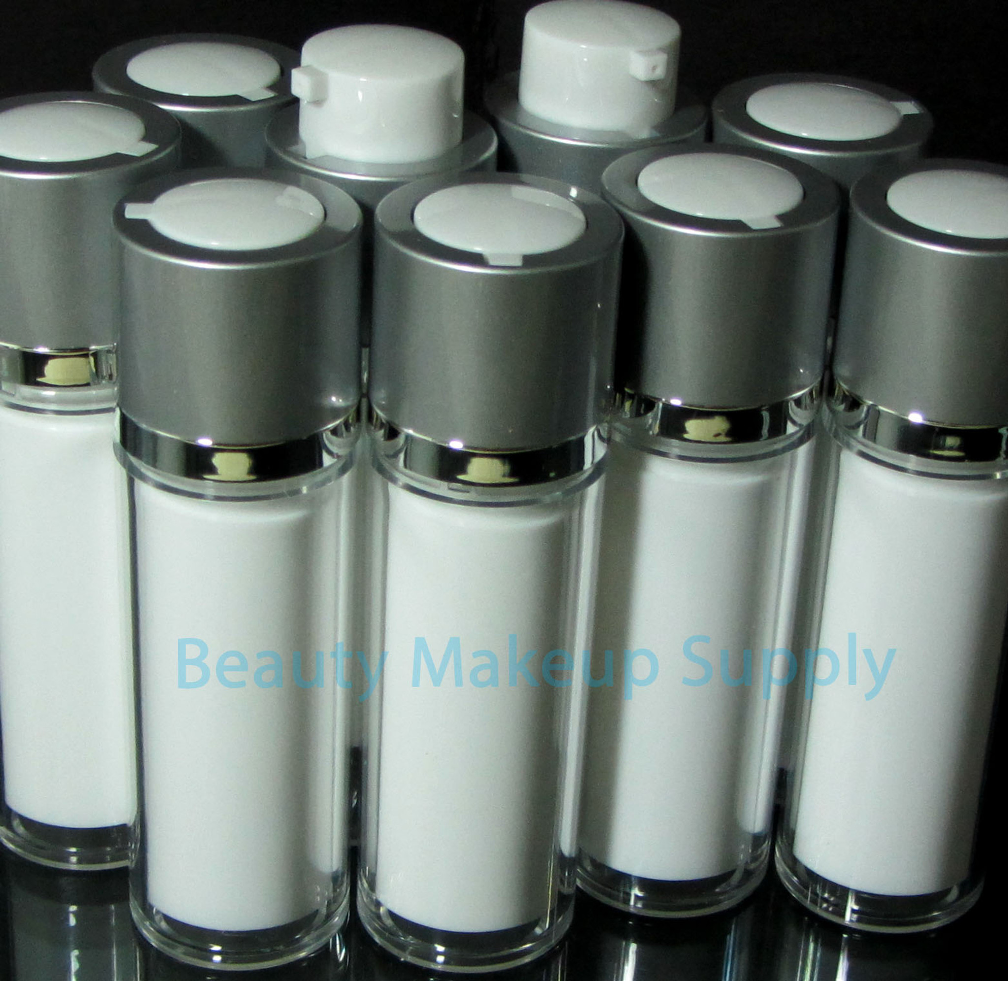 Luxury Twist Up Style Acrylic Airless Bottles - New Product at Beauty Makeup Supply