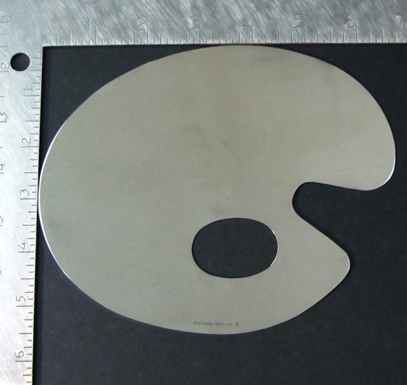 Cosmetic Mixing Palette Stainless Steel Mirror Finish Thumb Hole • 5084