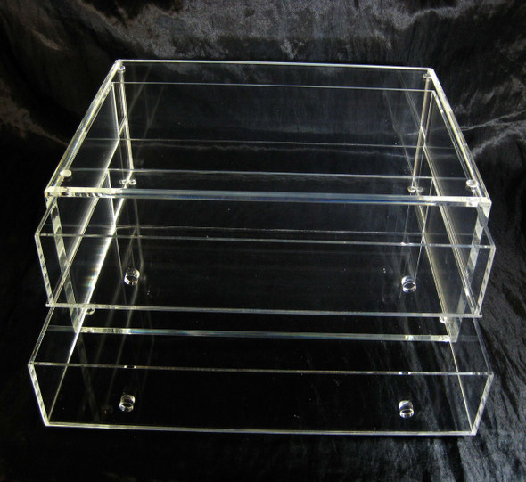 Large Deluxe Acrylic Expandable & Stackable Beauty Organizer Drawers • 5661