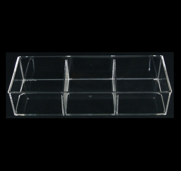Luxury Large Acrylic Cosmetic Beauty  Organizers 3-Compartment • 5643