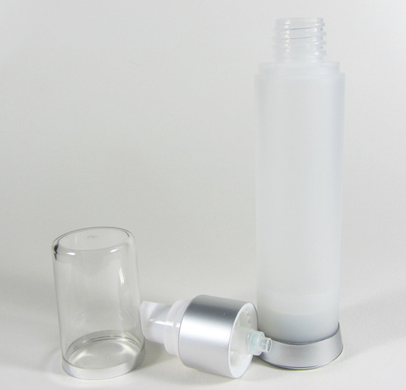 Airless Pump Bottle & Cap Serum Lotion Refillable Bottles - 50 ml (Frost) • 5022