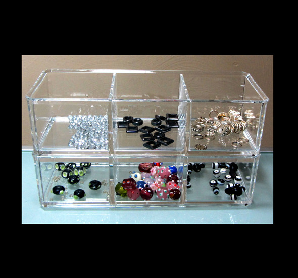 Acrylic 3-Compartment Stackable Organizers (Buy One Get One FREE) • 5698
