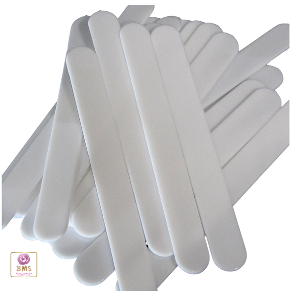 Tongue Depressor Plastic Spatula Long Handle White (25) • 5011