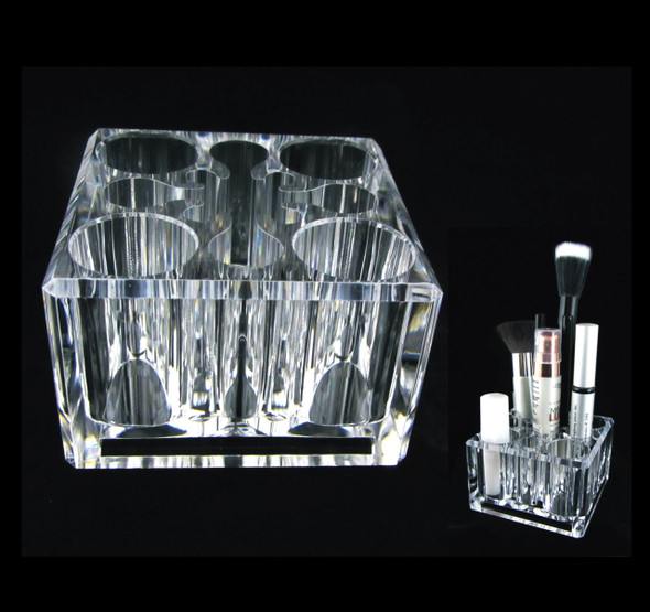 Acrylic Cosmetic Organizer Luxury Square Makeup Holder • 5654