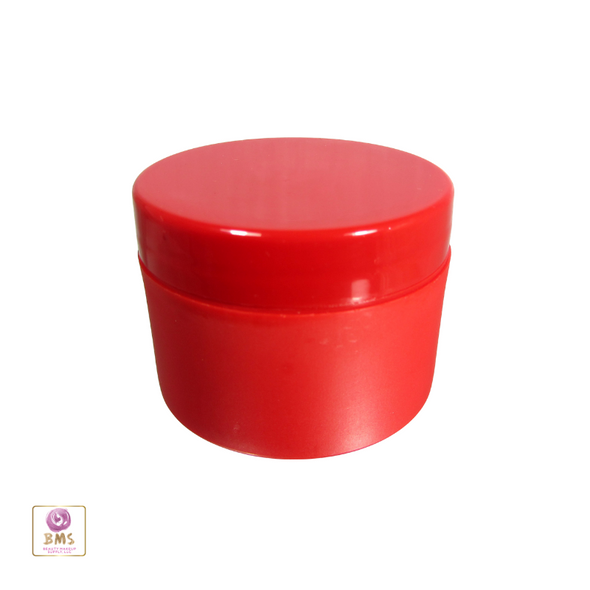 Plastic Jars Cosmetic Beauty Containers with Lid - 50 ml  (Red) • 9350