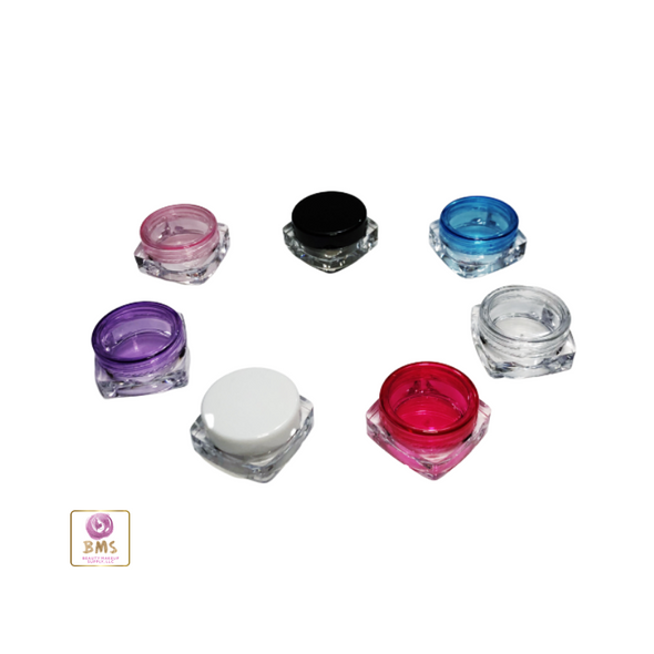 Cosmetic Jars Mini Square Beauty Containers - 3 Ml