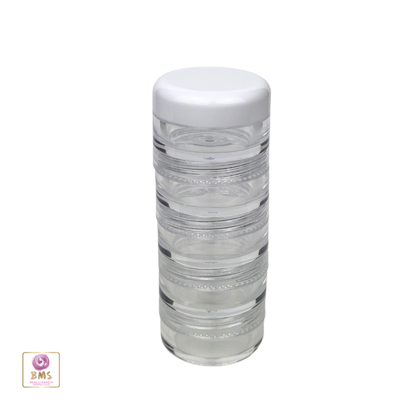 Cosmetic Jars Stackable Beauty Container  - 5 Gram /  5 Ml • 3216