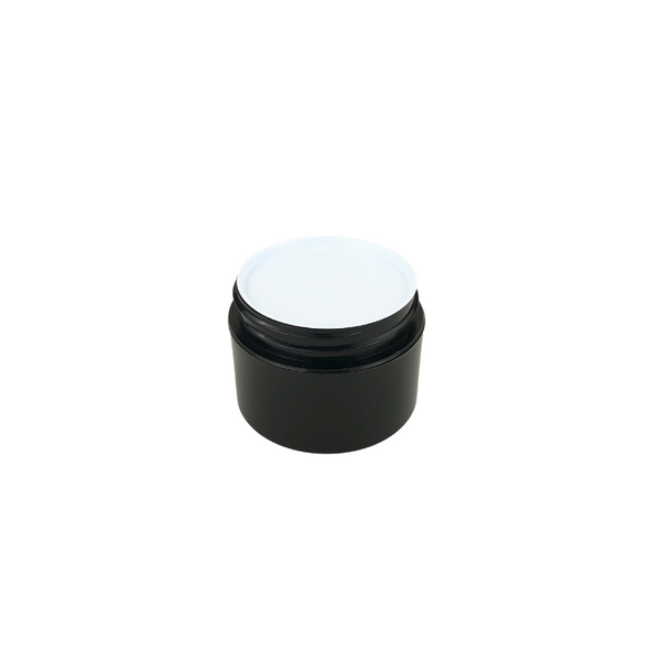 White Plastic Disc Cosmetic Jar Liner 33 mm (48) • 9633