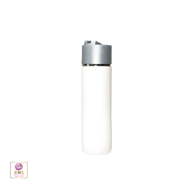Plastic Bottles PE Squeeze Bottles with Grey Disc Top Cap -200ml (White) • 9736