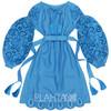 "Cut-embroidered dress ""Elegy of the sea"""