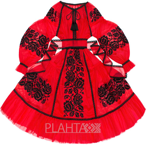 """Red tulle dress """"Rose Dreams"""""""