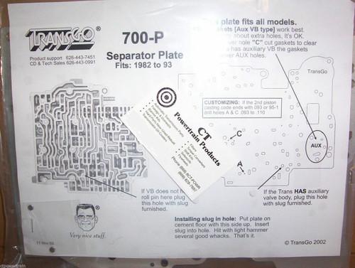 700-P TransGo Plate
