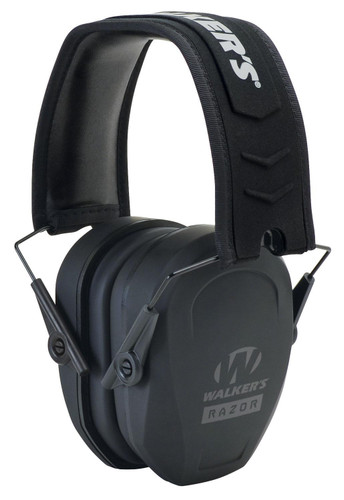Walkers Game Ear Razor Slim 27 dB Black Folding Passive Ear Muffs