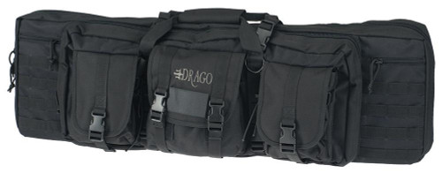 Drago Gear Double Gun Case Exterior 600D Polyester - Black