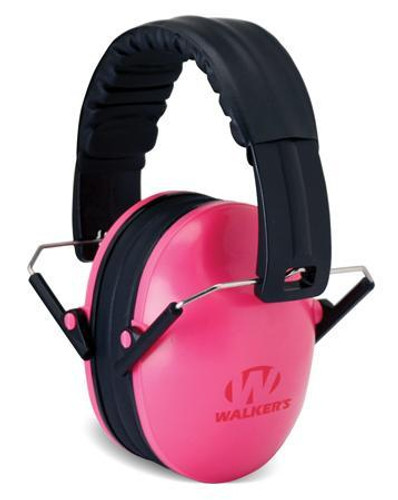 Walkers Game Ear Baby and Kid's Pink Folding Passive Ear Muffs