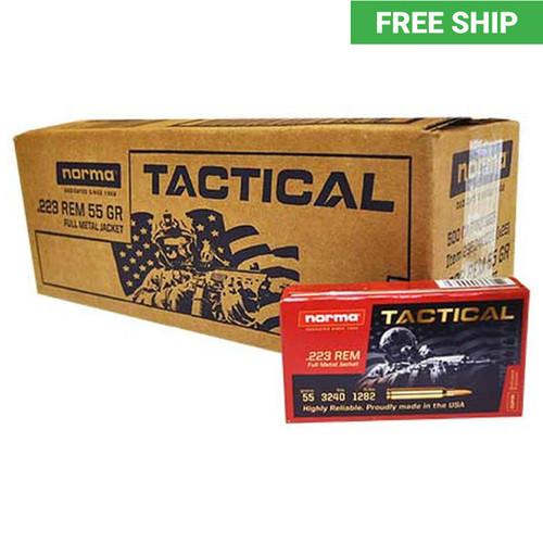 Norma Tactical .223 Full Metal Jacket Per 500-Case