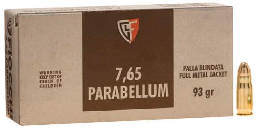 Fiocchi Training Dynamics 7.65mm Parabellum 93  gr Full Metal Jacket Thumbnail