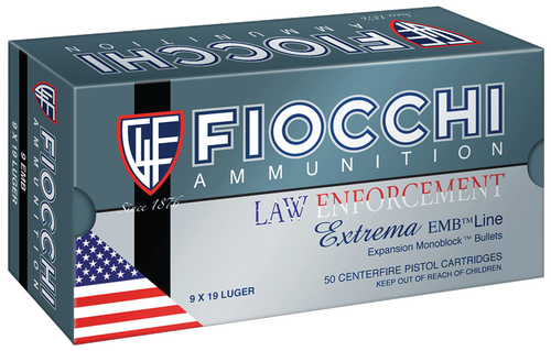 Fiocchi Classic Specialty 9x18mm Police 100  gr FMJ Trunctated Cone Thumbnail
