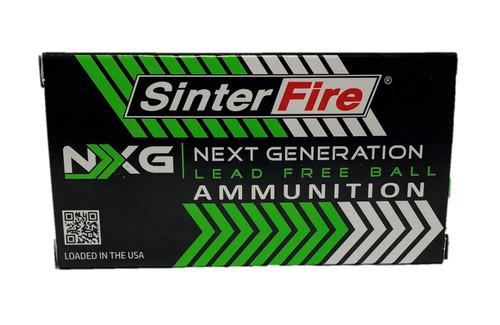SinterFire 9mm 100gr NXG Lead Free 50Rnd Brass Case Handgun Ammunition