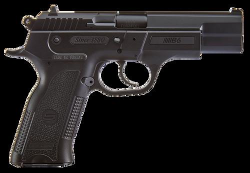 """SAR USA B69BL 9mm Luger 4.5"""" 17+1 Single/Double Semi-Auto Black Pistol"""