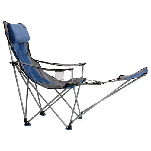 Travel Chair Big Bubba W/Footrest Blue