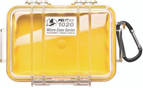 Pelican Micro Case 1020 Yellow/Clear