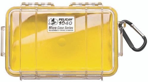 Pelican Micro Case 1040 Yellow/Clear
