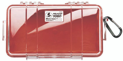Pelican Micro Case 1060 Red/Clear