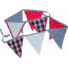Bunting - Red, Blue, Check