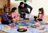 Children of the World Carpet with Pocketed Cube