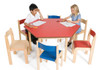 Tuf Class Hexagonal Table Red S3