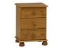 Richmond Pine Bedside Cabinet 3 Drawers