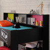 Paco Black Bunk Bed with Storage
