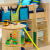 Zoloo Pine Mid Sleeper With Desk + Storage