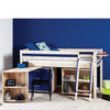 Santos Pine Mid Sleeper Bed With Storage + Desk