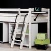 Santos Whitewash Mid Sleeper Bed With Storage + Desk