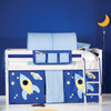Tano Whitewash Mid Sleeper Bed With Play Tent