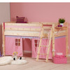 Sarita Pine Mid Sleeper Bed With Play Tent