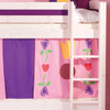 Gil Whitewash Bunk Bed With Play Tent + Trundle