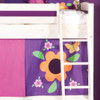 Kaci Whitewash Bunk Bed With Play Tent