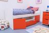 Treehouse Furniture Charterhouse Red Cabin Bed + Free Duvet Set