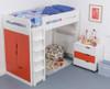 Treehouse Furniture Charterhouse Red High Sleeper + Free Duvet Set