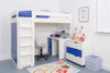 Treehouse Furniture Charterhouse Blue High Sleeper With Desk