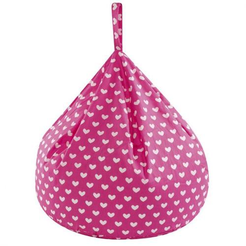 Pink Hearts Bean Bag