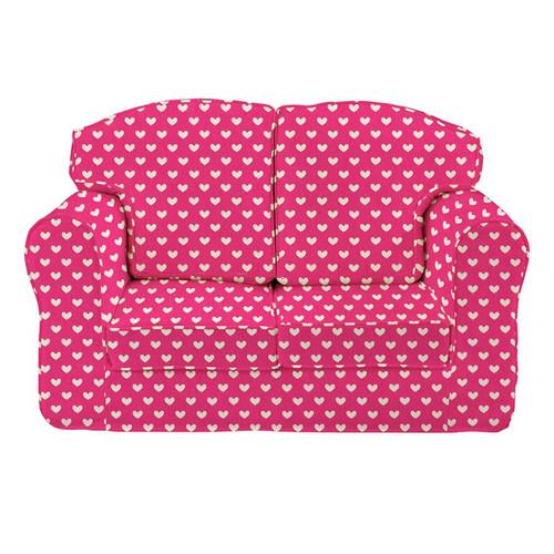 Pink Hearts Sofa